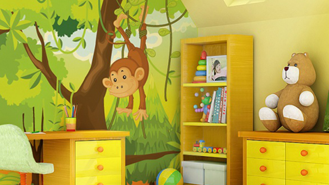 Malby Promeni Detsky Pokoj V Kouzelny Raj Pomoc V Domacnosti