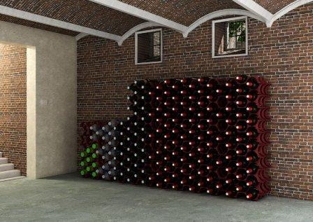 Iobyčejný stojan na víno může být designovým kouskem